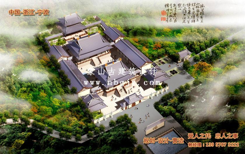 杭州依云寺总体寺院规划设计