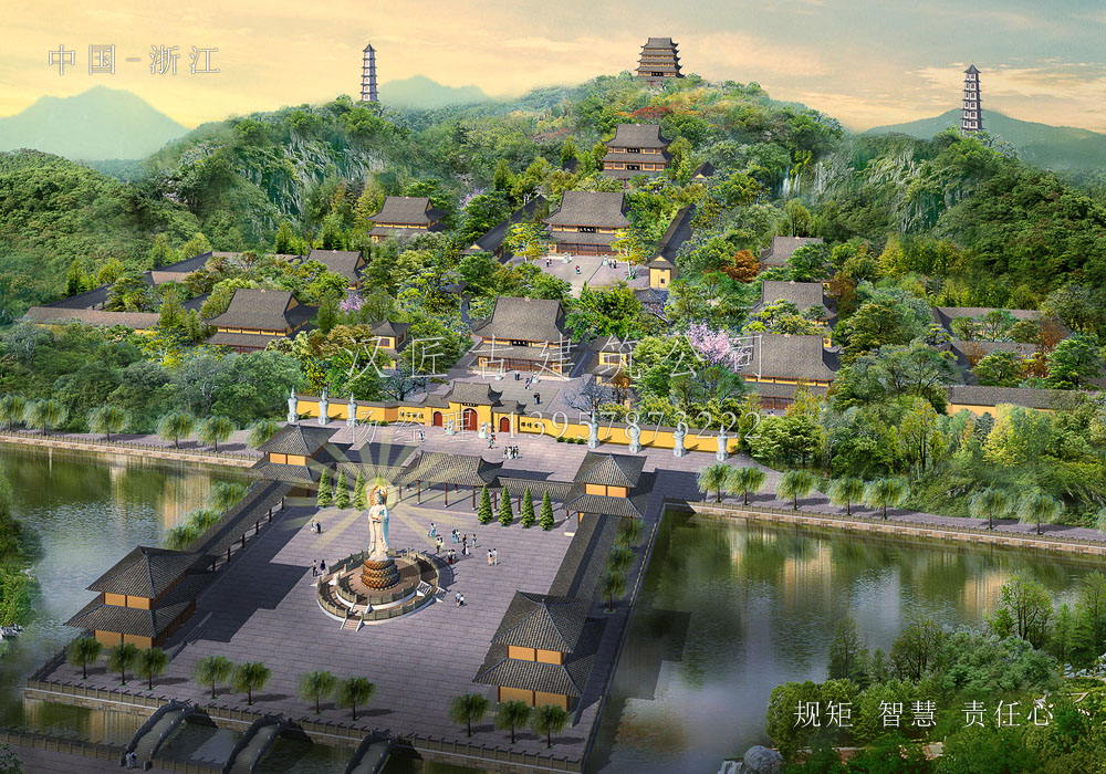 象山玉泉讲寺扩建方案规划设计