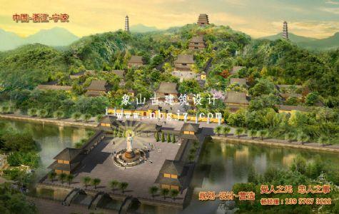 寺庙古建筑设计 象山玉泉讲寺