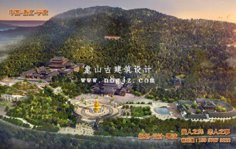 广东省兴宁市神光寺效果图设计