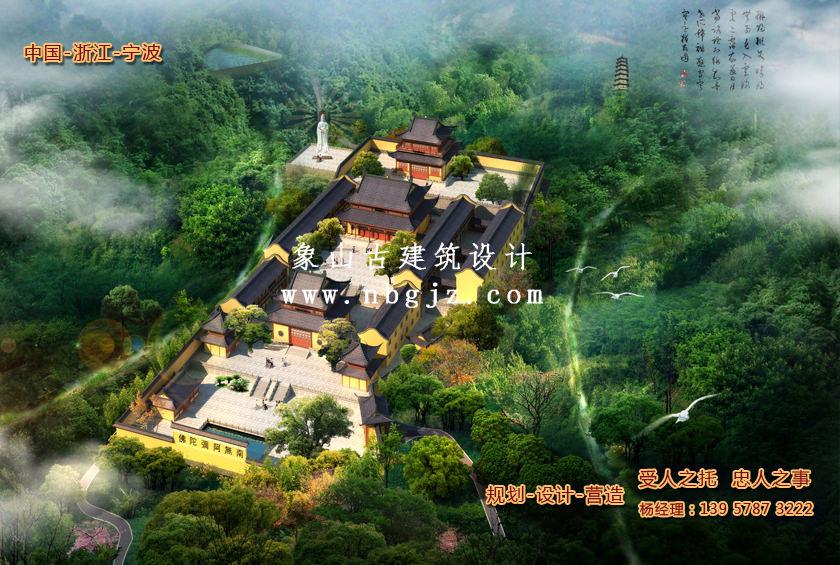 象山石浦青龙寺仿古建筑设计规划