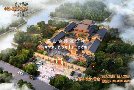 寺庙古建筑设计—宁波天福寺