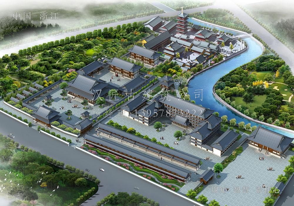 广德寺总体方案设计及工程施工