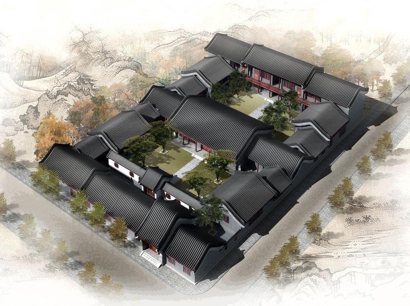 四合院设计_四合院别墅建筑设计规划