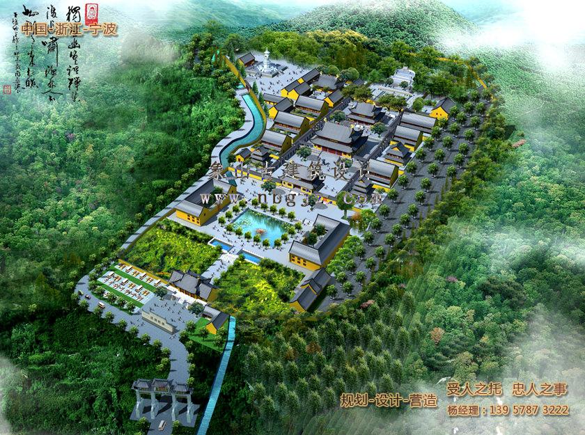 阿育王古寺总体规划设计施工效果图