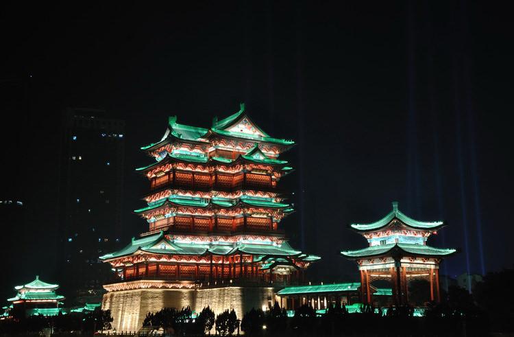 江西省南昌市滕王阁古建筑照明设计