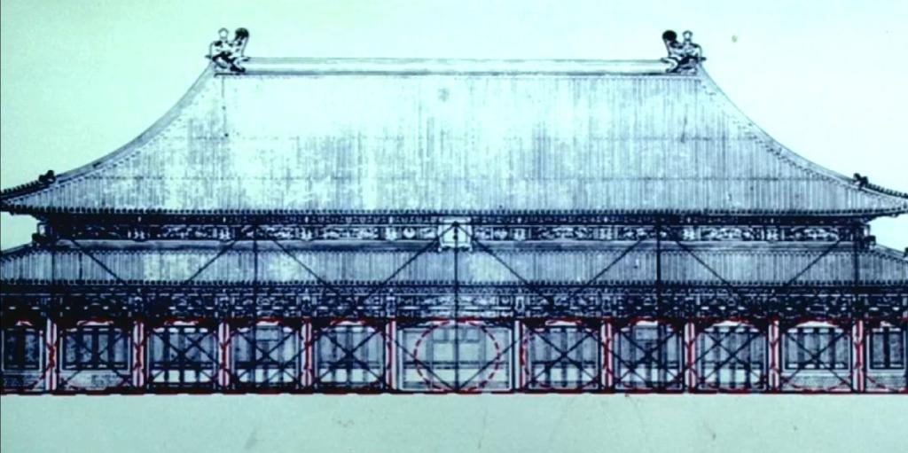 中国古建筑设计营造偶数开间