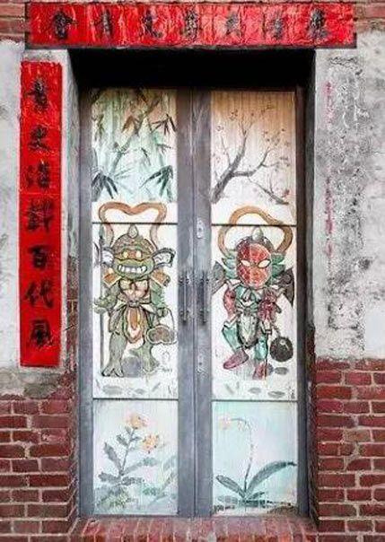 中式古建筑装饰门面贴物习俗