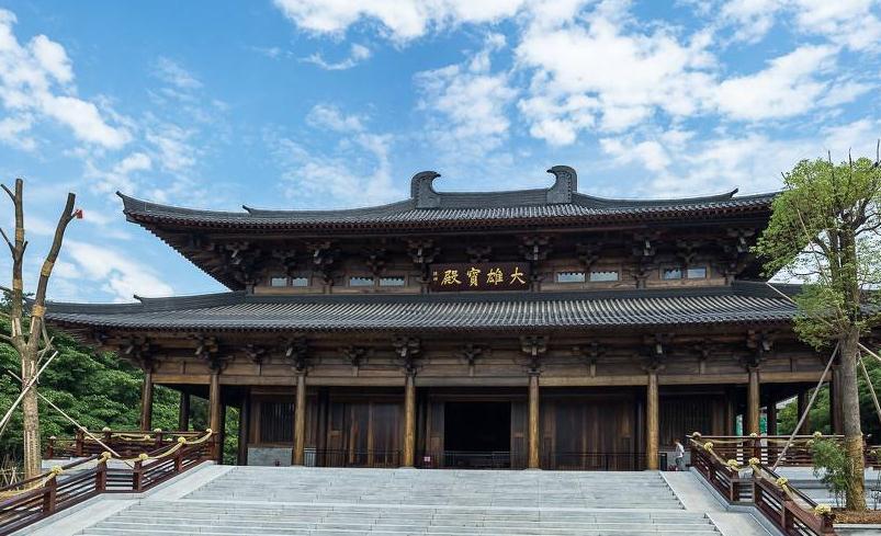 南京定山寺木结构仿唐大雄宝殿设计重建