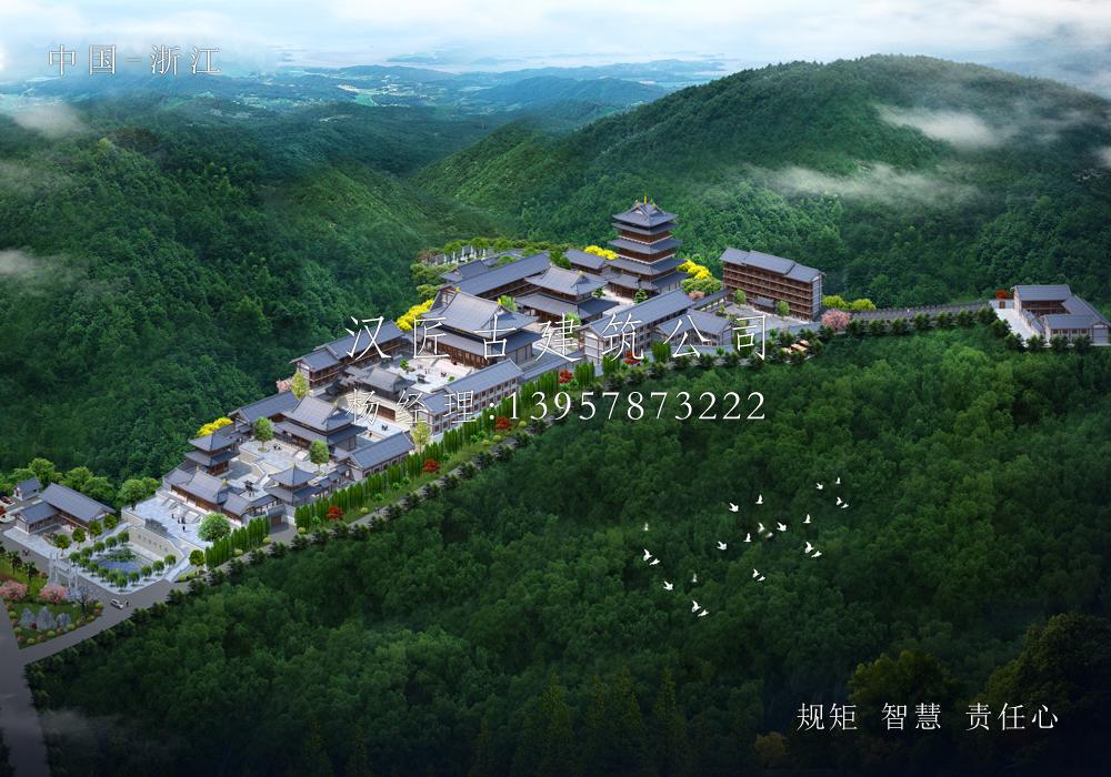 舟山长福禅寺总体寺院规划设计