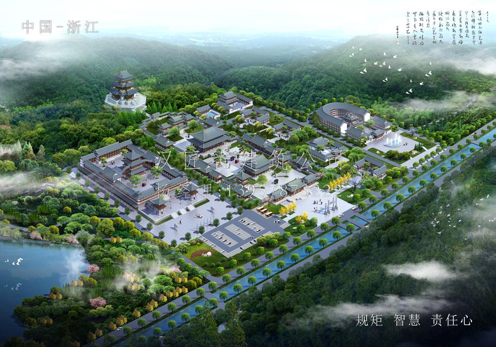 山东省泰安藏峰寺重建设计