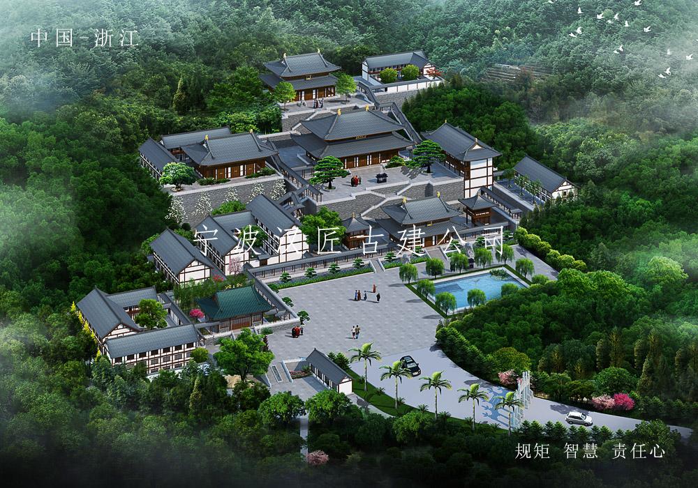 庙宇总体规划设计-深圳观音寺