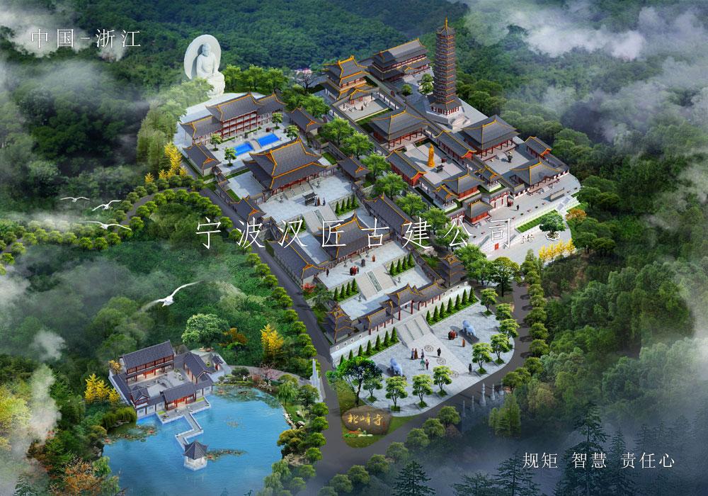 寺院重建规划设计方案-北峰寺