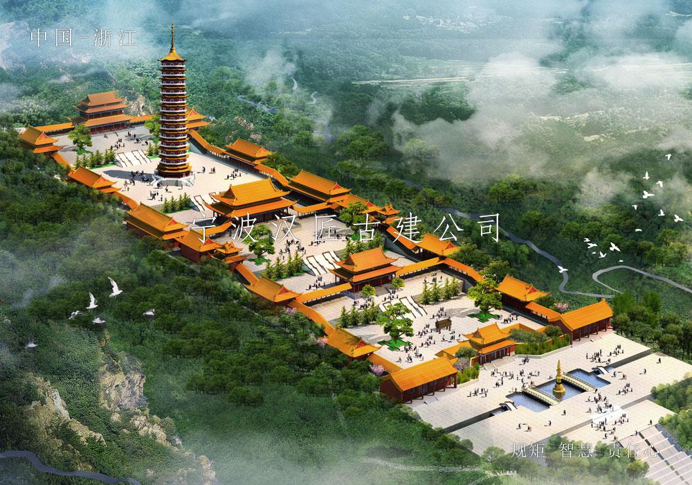 寺院改扩建规划设计方案图-雷音禅寺