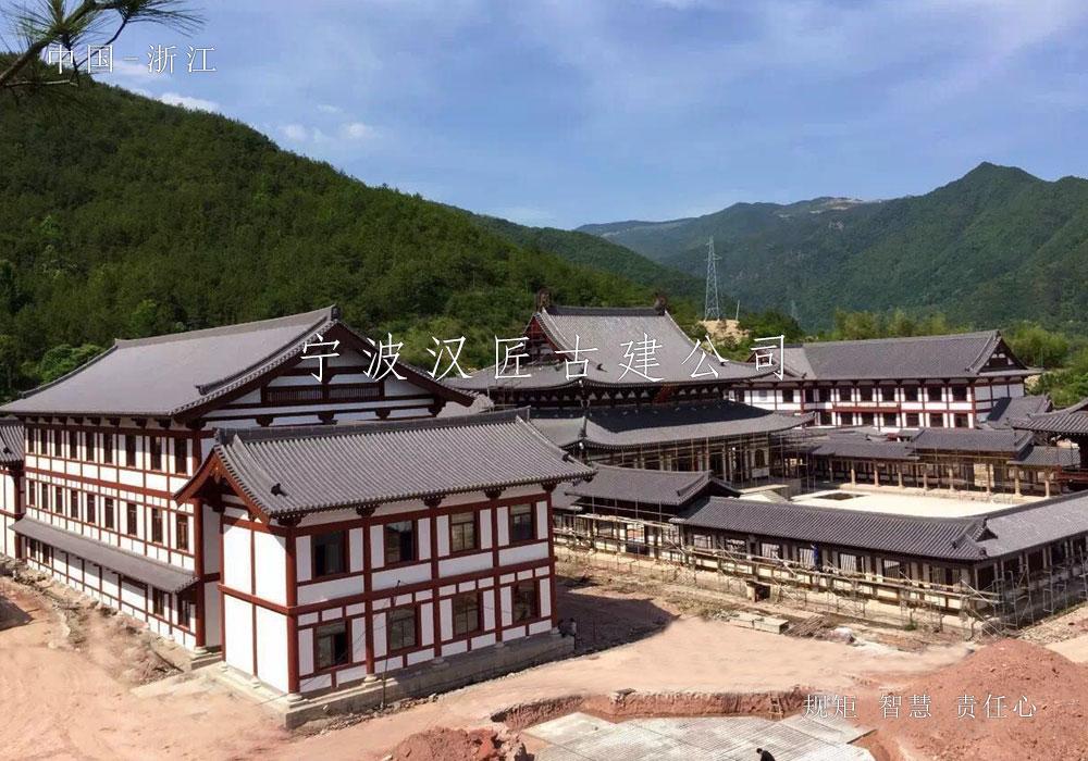 寺院重建工程施工